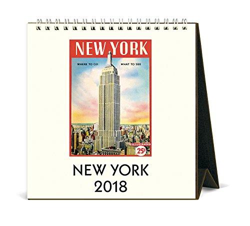 Cavallini Papers & Co. 2018New York Schreibtisch Kalender (Desktop-kalender Mit Staffelei)
