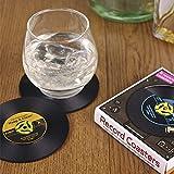 4x Retro CD Record Vinyl Coffee Drink Cup Mat Coasters Chic Tableware UK stock