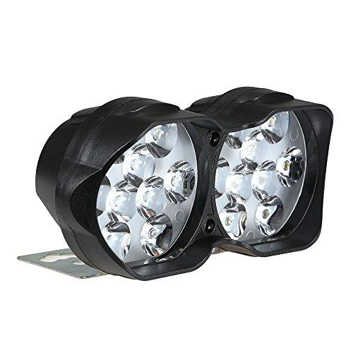 KKmoon Fari Anteriori per Moto, Lampadine per fari, Spot per Moto Scooter LED, 30W 3000Lm 7000K Lampada per fendinebbia, Accessori per Moto 9-85V