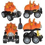 mxjeeio Dinosaurier Spielzeug Spielzeugauto Cars Toys Kindergeburtstag Party Dekoration Dinosaurier Modell Spielzeugauto zurückziehen Auto Geschenk Spielzeug