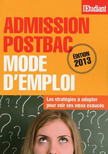 Admission postbac mode d'emploi par Sophie de Tarle