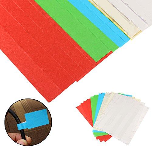 MASUNN 300pcs 10 shes A4 selbstklebende Kabel Etiketten Kennzeichnungs Marker Tags Stick (Handschuhe Stick-schweißen)