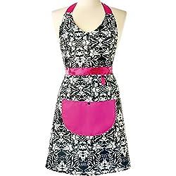 Vigar Rococco Pink - Delantal, color negro