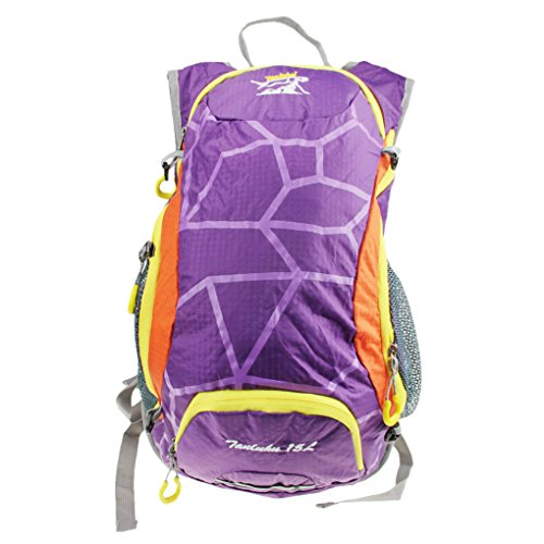 Wasserdicht Reiten Rucksack 8L Shoulders Bag Radfahren Camping Wandern Rucksack Day Pack Outdoor 404717HC Paket Violett