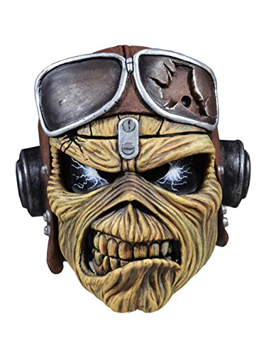 Iron Maiden Aces High Eddie Adult Latex Costume Mask (Costume De High Monster Halloween)