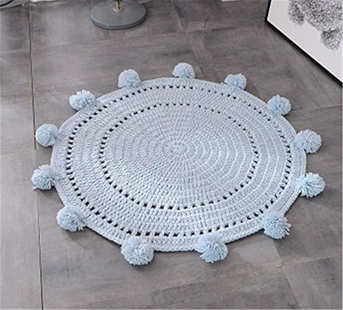 Alfombra redonda tejida a mano / alfombra pequeña de color lindo / dormitorio , d