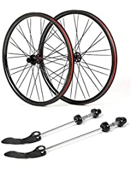 ZNND 27.5 Fibra De Carbono Bicicleta Ruedas, Doble Pared V-Brake Ultra- Ligeras