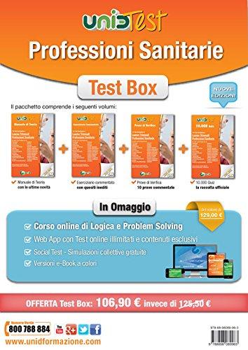 Test box professioni sanitarie: Manuale di teoria-Eserciziario commentato-Prove di verifica-10.000 quiz. Con aggiornamento online (Test universitari)