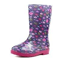 ZONE - Girls Purple & Pink Glitter Welly