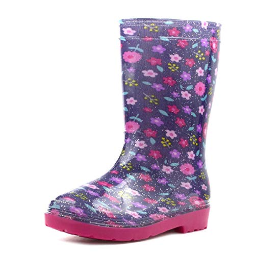 ZONE - Girls Purple & Pink Glitter Welly