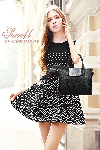 Sunas 2017 nuove donne borsa fashion retro 6 insiemi di sacchetto femminile trasduttore auricolare sacchetto di spalla borsa nero
