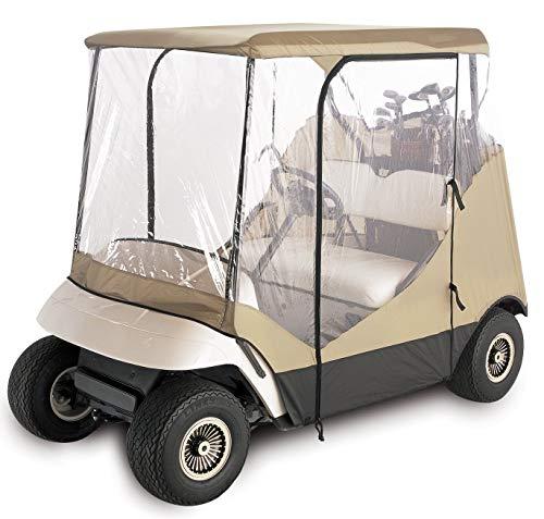 l 4-seitiges 2-Personen-Golf-Cart-Gehäuse, Hellbraun ()