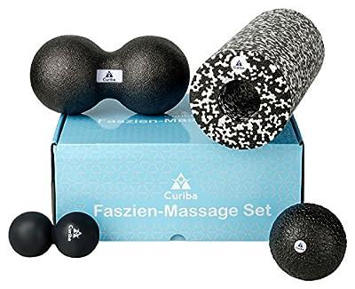 Faszienbälle Massagebälle als Einzelball, Duoball oder 3er-Set mit Ausführlicher Anleitung