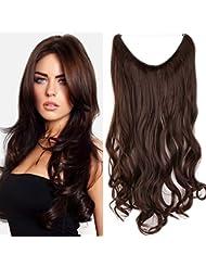 24 Extensions Cheveux Lisse Monobande - Extension Cheveux Synthétique 60CM(24 pouces) - Hair Extensions - Marron