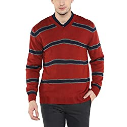 Wills Lifestyle Mens V Neck Stripe Sweater