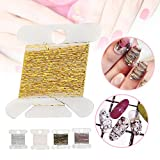 5 Stück Fashion Nail Art Glitter Linie, Nagel Paillette Decal DIY Flake Kit Maniküre Dekoration Zubehör (5 Pcs)