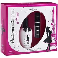 Christine Arbel Coffret Mademoiselle Arbel à Paris Eau de Toilette Femme avec 1 Vaporisateur de Sac