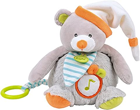 Baby Nat' Boîte à Musique Oscar l'Ourson Gris