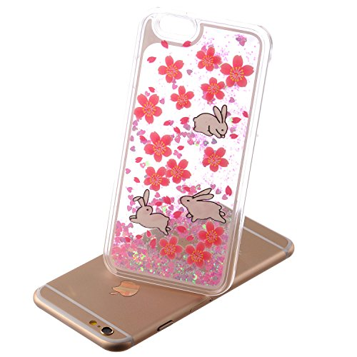 Beiuns Coque en Plastique Circuler liquide pour Apple iPhone4 4G 4S Housse Case - WM542 bonhomme de neige WM522 trois lapins