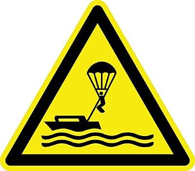 Warnzeichen - Warnung vor Parasailing - Aluminium