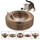 Klappbar Kratzbrett für Katzen mit Katzenminze & Ball Kratzbaum Kratzmöbel Katze Spielzeug aus Wellpappe