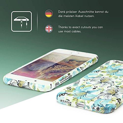 iPhone 6 Plus / 6s Plus Coque, Urcover TPU Silicone Housse Apple iPhone 6 Plus / 6s Plus Protection Étui Fleurs Motif Design 5 Téléphone Femme Smartphone Case Design 8