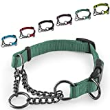 CarlCurt - Training Line: Retriever-Hundehalsband Aus Strapazierfähigem Nylon, Verstellbar, 28-38cm, Grün