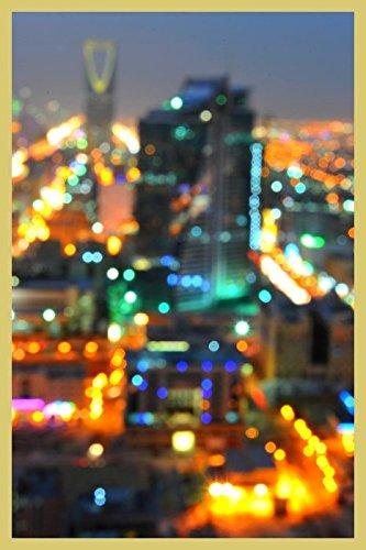 Bild mit Rahmen Hady Khandani - RIYADH BLURR - SAUDI ARABIA - Digitaldruck - Holz gold, 30 x 45cm - Premiumqualität - HADYPHOTO, Fotografie, Photografie, Vorderasien, Saudiarabien Panorama, Stadt, Riad, .. - MADE IN GERMANY - ART-GALERIE-SHOPde