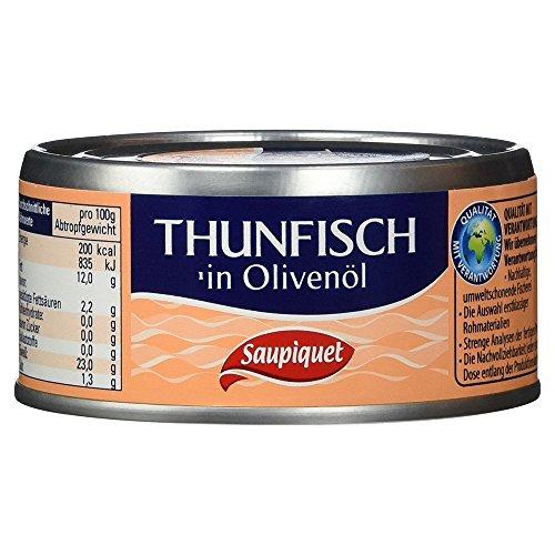 Preisvergleich Produktbild Saupiquet Thunfischstücke in Olivenöl,  140 g