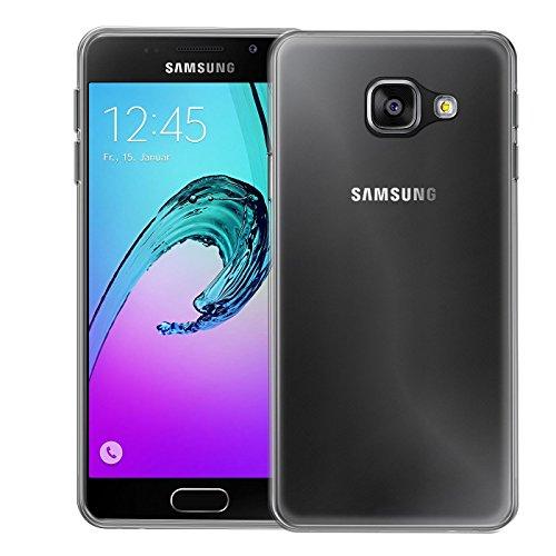 Conie Silkon Rückschale Transparent, Case Für Samsung Galaxy A3 2016 - Flexibles Cover, Druckknöpfe Rutschfest, Galaxy A3 2016 (A310) Durchsichtig Klare Schutz- Hülle