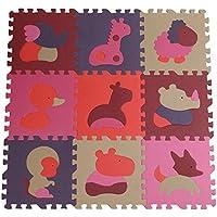 Tianmei 9pcs Cute Animal EVA espuma jugar esteras Floor Puzzle Crawling Play tapete de juego para bebé Kids Childre bebés–color brillante material, medio ambiente, seguro para uso