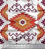 Soimoi Braun Samt Stoff aztekisch Kelim Stoff Meterware 58