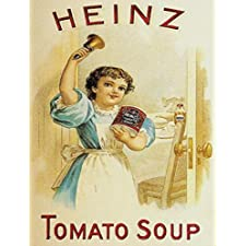 S1363 SMALL HEINZ TOMATO SOUP METAL ADVERTISING WALL SIGN RETRO ART