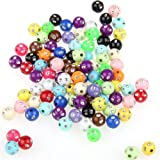 Sunluxy Mall Perles ronde en strass. Plastique. 8 mm Lot de 200 perles multicolores