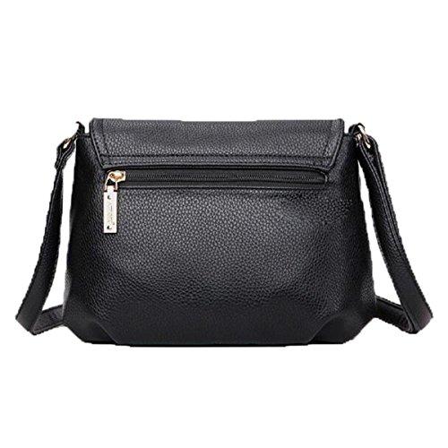 WU Zhi Le Donne Gli Anziani Messenger Bag In Pelle Borsa A Tracolla Black