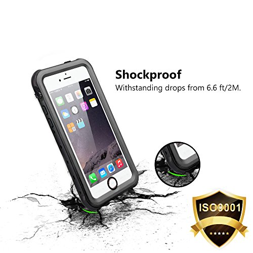 iPhone 5S Etui Imperméable, iThroughTM iPhone 5 Boîtier étanche, Antipoussière,Anti-neige, Antichoc Avec un écran Protecteur portant Couverture Etui inclut un Câble pour iPhone 5S, iPhone 5 Noir