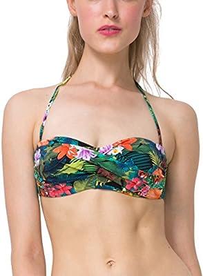 Desigual Biki_tripo, Parte Superior del Bikini para Mujer
