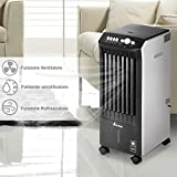 Bakaji Rinfrescatore Raffrescatore d'aria Compatto Air Cooler 65W Ventilatore Refrigeratore Aria Portatile 2 in 1 con funzione Umidificatore, Timer, 3 Velocità, Bakaji Interior Exclusive Terafan Serbatoio Acqua Ghiaccio da 7,5 Litri Ruote Girevoli e Maniglie Dimensioni: 28 x 70 x 31cm