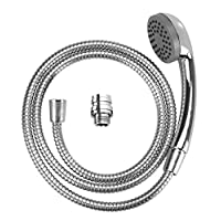 WENKO WK22866 handbasin-Mobile Hand Stainless Steel Shower Hose, Silver Shiny, 6.5 x 150 x 3.5 cm