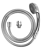 Wenko 22866100lavabo mobile doccia doccetta con tubo flessibile per doccia in acciaio inox