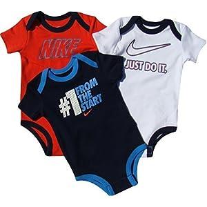 Nike – Conjunto de tres piezas para bebé – 56B421-000, 6/9 Meses, Multicolor