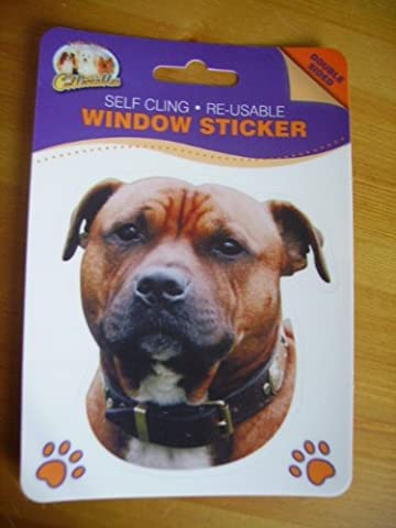 Staffordshire Bull Terrier Red Staffy Staffie dog double sided window