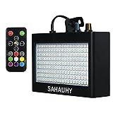 Stroboskop Licht,SAHAUHY Super Hell 35W 180 LEDs Stroboskop Blitzer Geschwindigkeit und Farbe Einstellbar (180 strobe light)