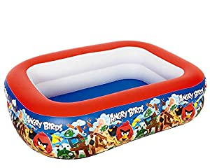 Bestway Inflatables 6942138912753 Piscina 201 X 150X 51 Cm Angry Birds, Multicolor (18705)
