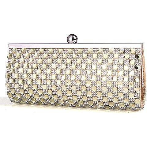 Il piccolo sacchetto del pacchetto del vestito da modo del partito nuovo pochette pochette stella di diamante luminoso