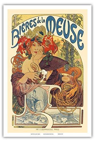 Bières de la Meuse (Bier avertising)-Jugendstil-La Belle époque-