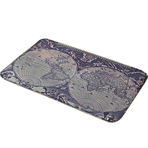 Kitchen mats cucina tappetini met love mappa del mondo tappetino da salotto, camera da letto tappetino vintage floor mat