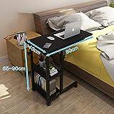 ZCCDNZ Nachttisch Laptoptisch Lazy Tisch Bett Tisch Kleiner Tisch im Schlafzimmer Bewegliches Heben Mini Student Einfach (Farbe : B, größe : 80cm)