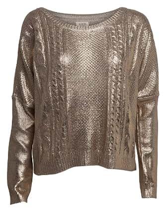 Nümph Damen Bluse 7713225, Gr. 42 (XL), Gold (GOLD)