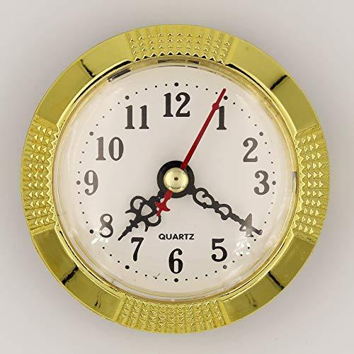 Unbekannt Einbau-Uhr Einsteckuhrwerk Einsteckwerk Einbauuhr Modellbau-Uhr Arabisch Ø 77 mm Nr. 26 (Gold)